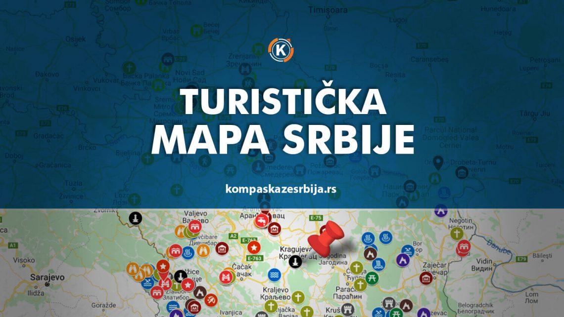 Turisticka mapa znamenitosti Srbije
